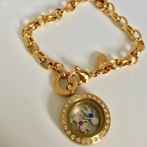 Authentic Origami Owl Gold Crystals Charm